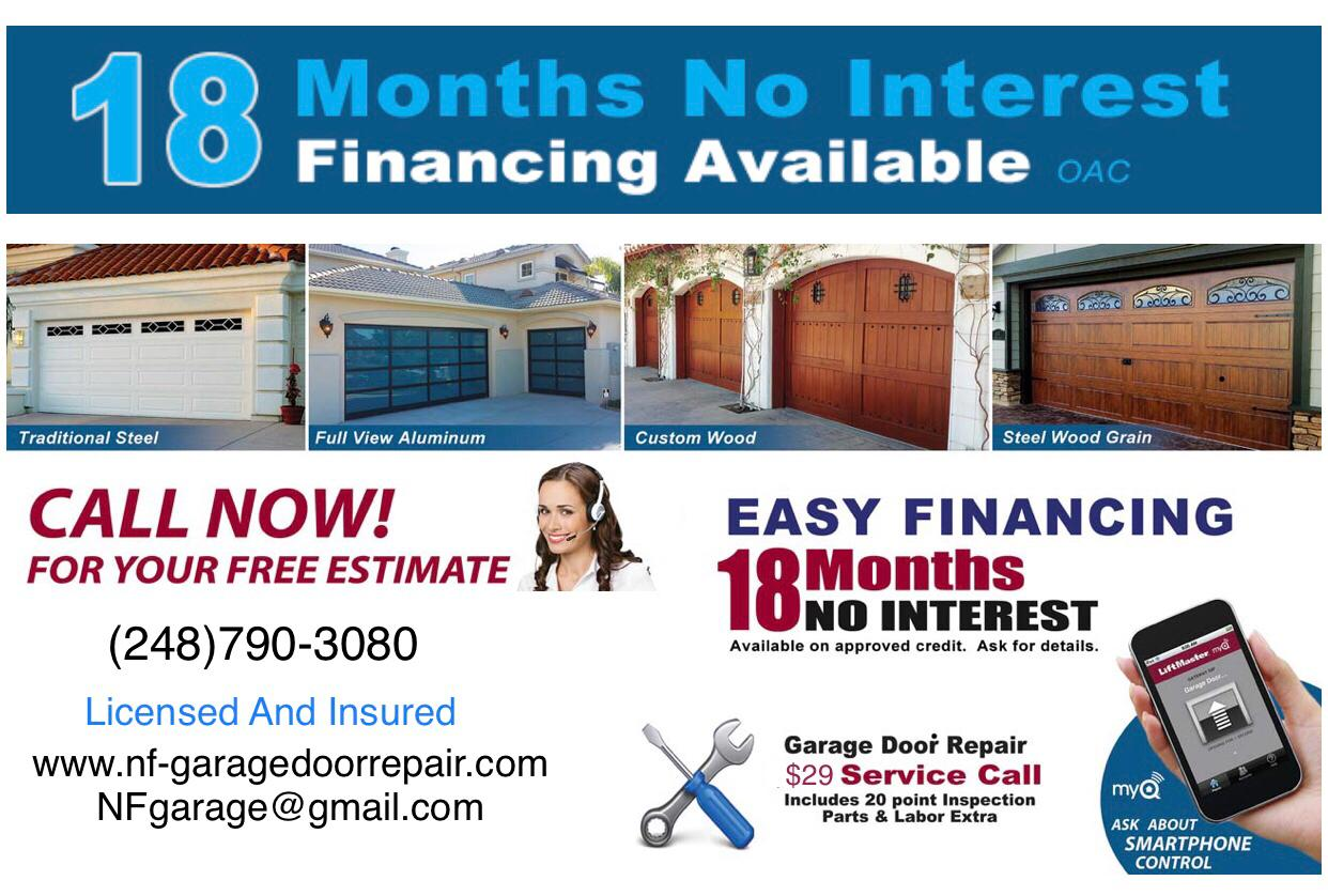 18 months interest free financing
