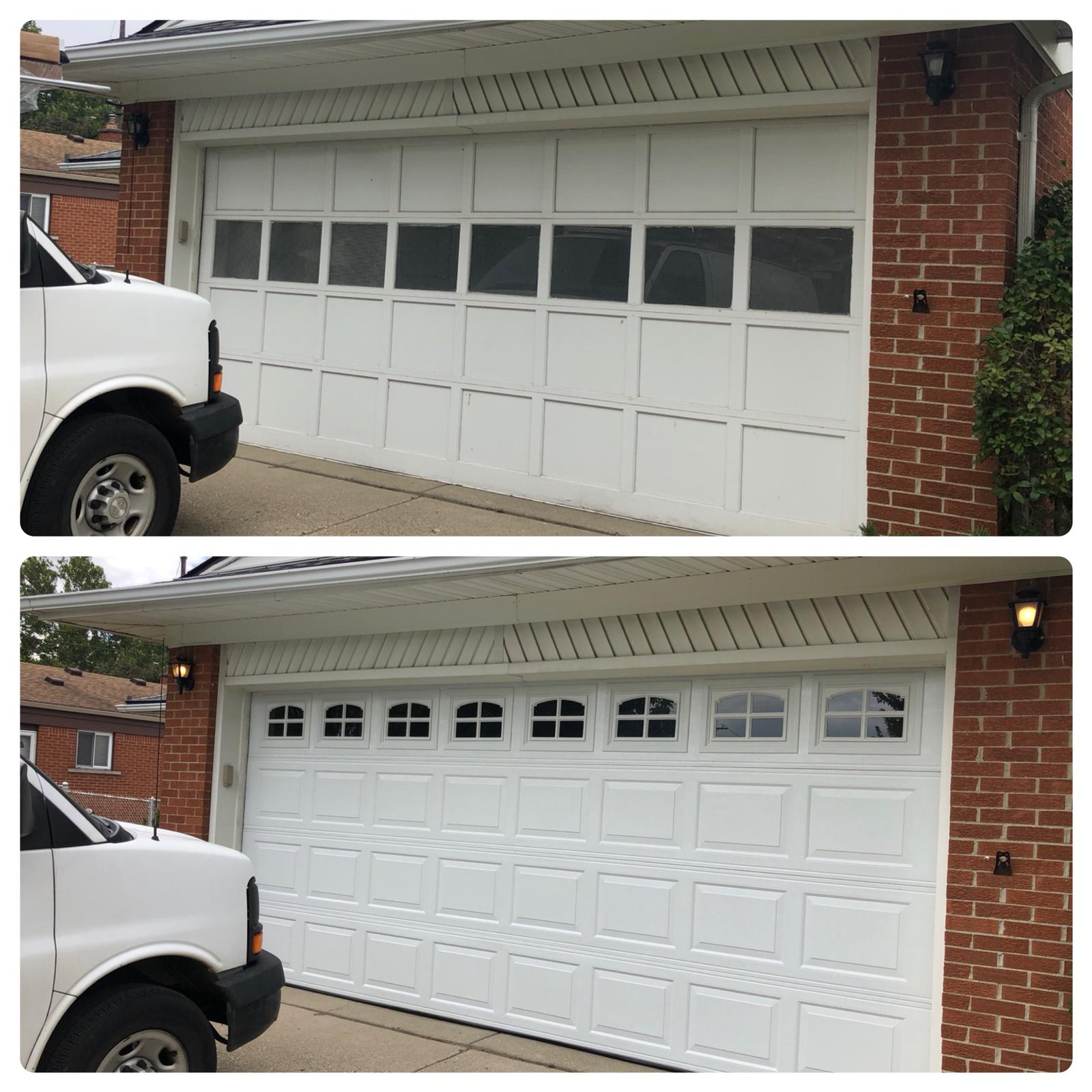 Garage door updgrade installed!
